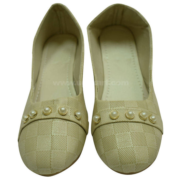 Cream White Ballet Flat For Women