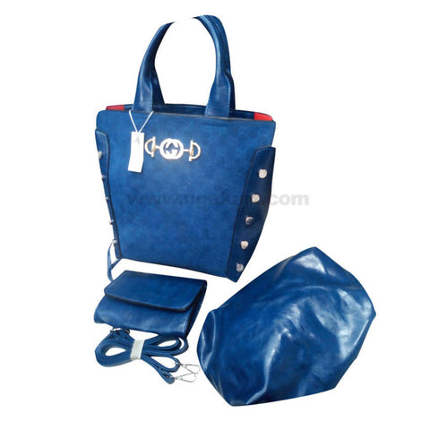 GC Set of 3 Blue Women'S Hand Bag