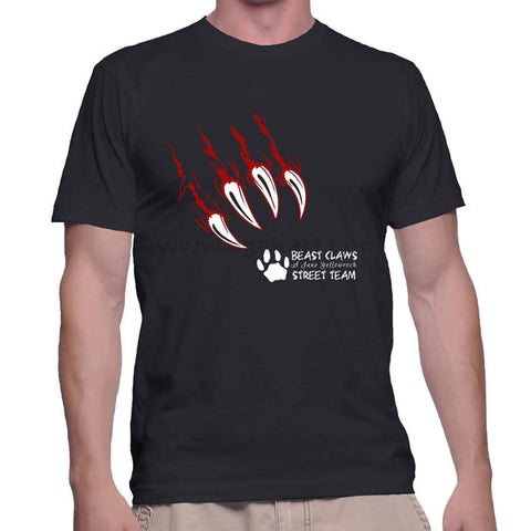 Black With Beast Printed Men's T-Shirt (Size: S,M,L,XL)