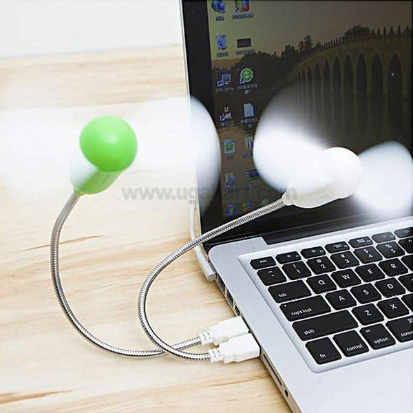 Mini USB Flexible Portable Fan,Electricity Saving Silent Fan Compatible with Any USB Port Like Power Bank, Laptop and Computer