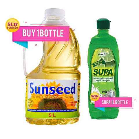 BUY ONE BOTTLE OF SUNSEED 5 LTR & GET 1 SUPA 1 LTR FREE