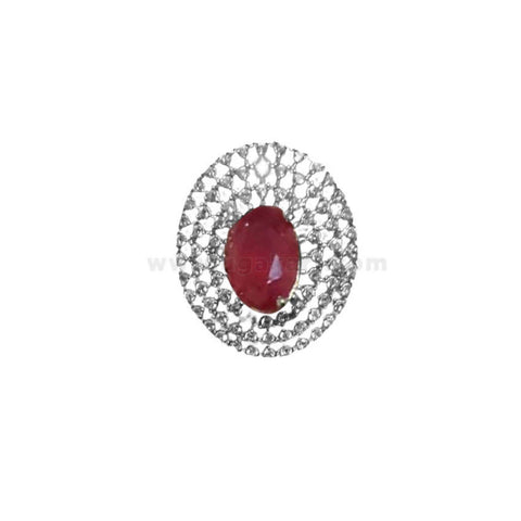 Finger Ring With Red Stone