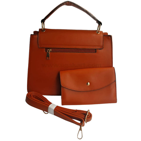 Brown Womens Hand Bag