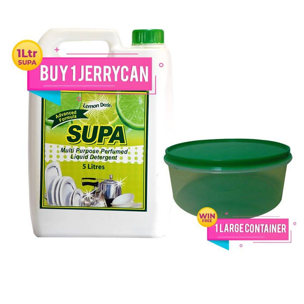 BUY ONE SUPA 5 LTR JERRY CAN & GET 1 FOOD CONTAINER LARGE FREE