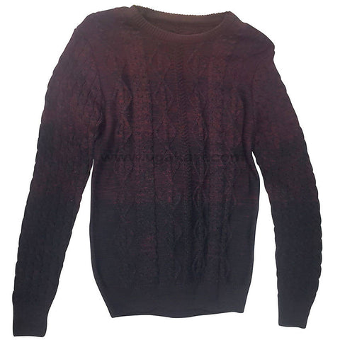 Barn Red Graphic Rounded Neck Sweater For Mens XL