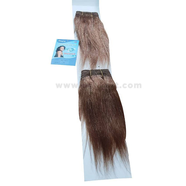 Human Hair Weave-Brown -2 Pc With 8 Inch
