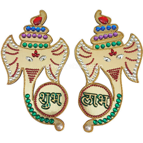 Subh Labh With Ganpati for Wall Hanging