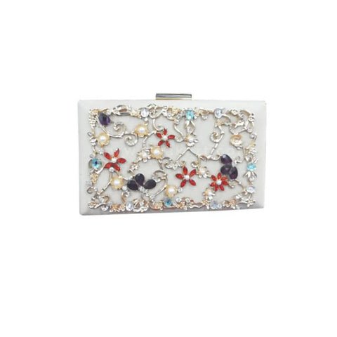 Ladies Gold & Giltter Designed Clutch Bag