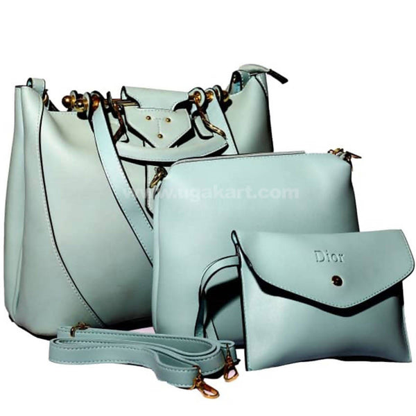 Dior Light Blue 3Pcs Hand Bag