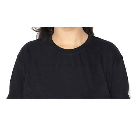 Plain Black-Women's Cotton T-Shirt