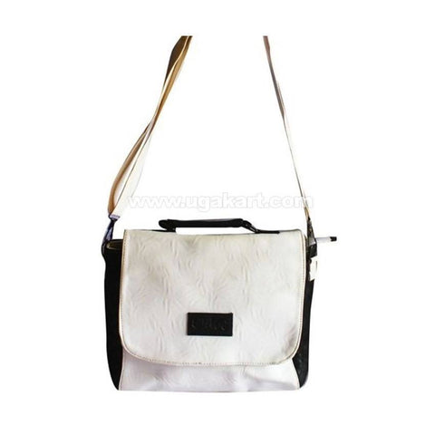 Chloe Leather Shoulder Bag - Black, White
