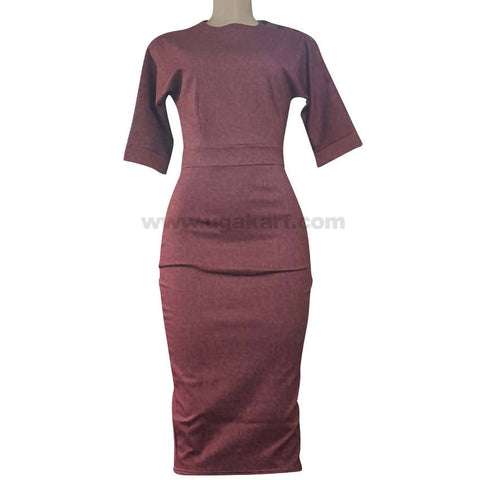 Maroon Fit Dress For Women