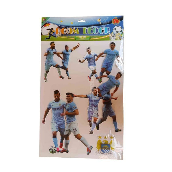 Room Decor Blue Football Players Wall Stickers