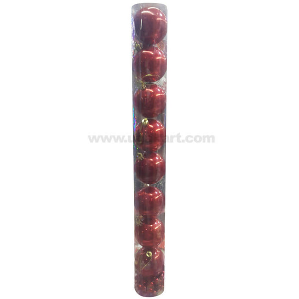 Red Christmas Decoration Balls 8 pc