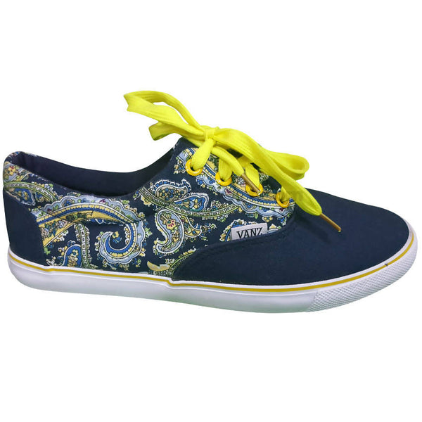 Blue and Yellow Fashion Men's Shoes