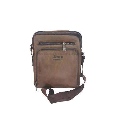 Jeep Buluo Zipper Brown Unisex Cross Bag
