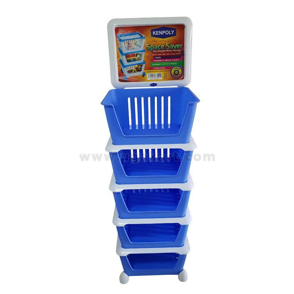 Kenpoly Space Saver Trolley With Wheels - Blue