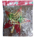 Decoration Christmas Star Golden & Red