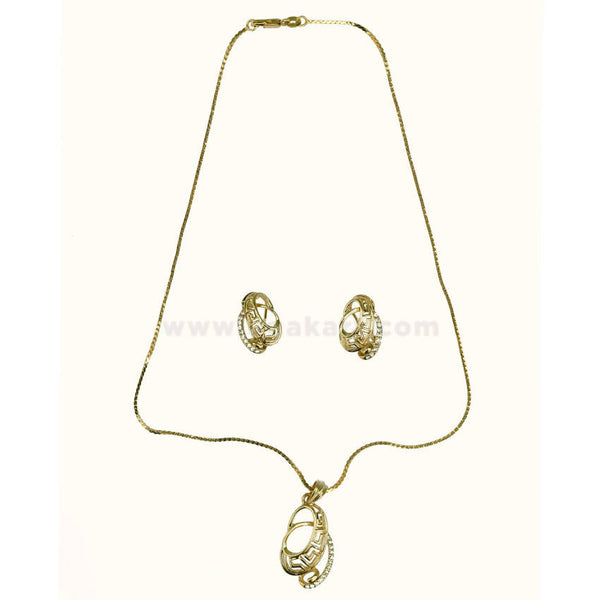 Golden Necklaces With Earrings