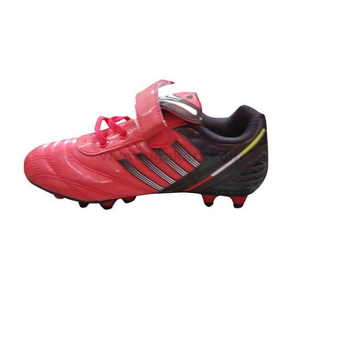 Black and Red soccer cleat Shoe