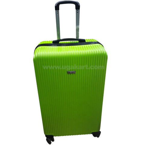 Green Stripped Hardside Spinner Luggage Suitcase (Large)