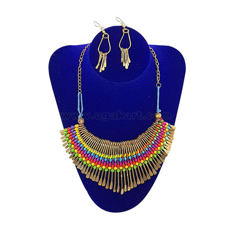 African Necklace With Earrings