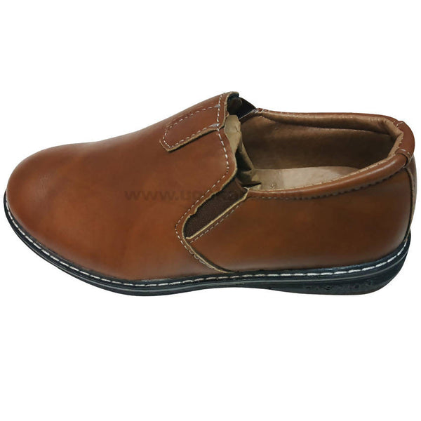 Fashion Casual Brown Slip on Shoes For Kids