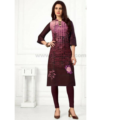 Pure Cotton Material 3XL With legging Marron (52 Bust Size)