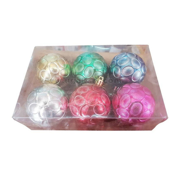 Decoration Balls Multi Colour-6Pc
