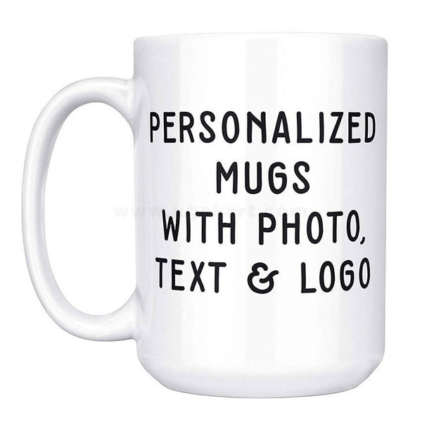 Personalized Mug with pictures, logo, or text