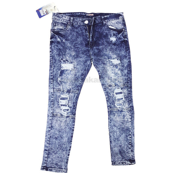 Light White And Blue Jeans For Men's