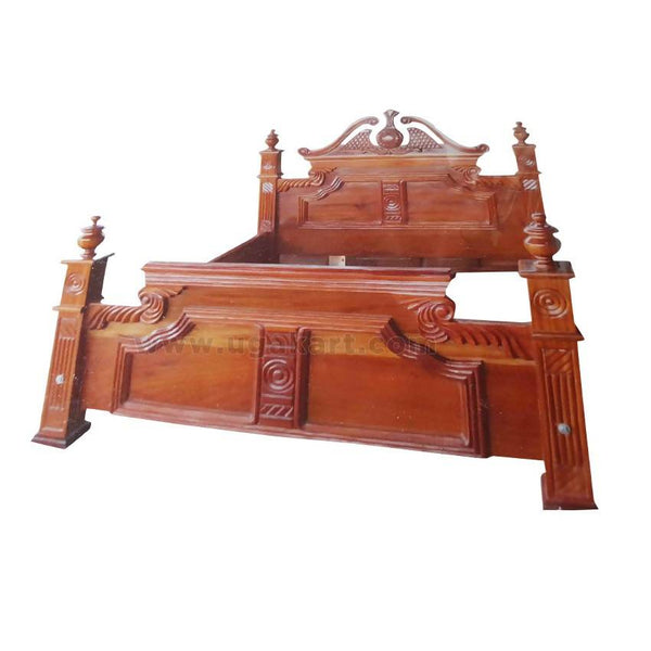 Vintage Classic Design Wooden Double Bed