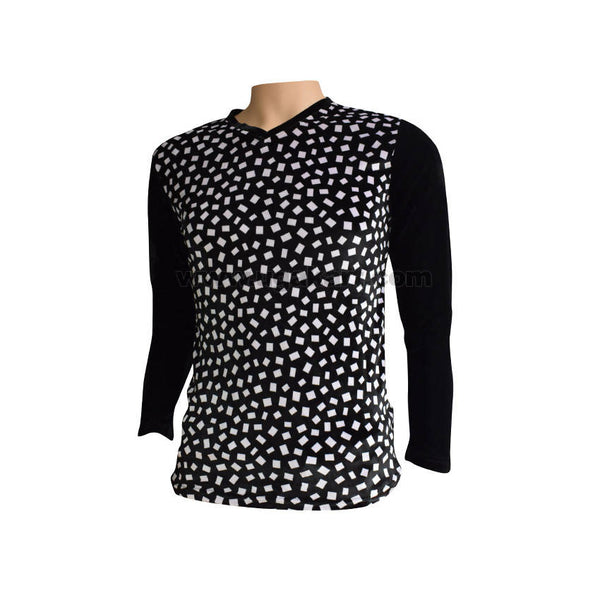 Full Sleeves Black T-shirt with White Print - Size L