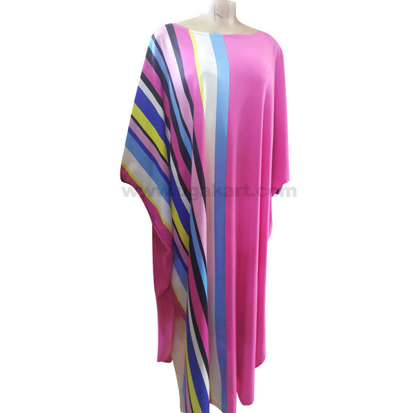 Women's Multi Color Wavy Long Dress
