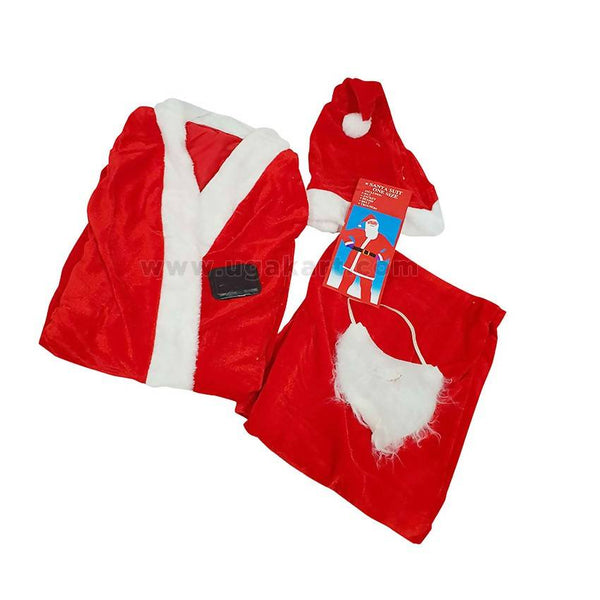 Christmas Santa Dress - For Adult (Free Size)