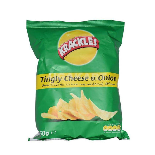 Krackles Tingly Cheese & Onion 150Gm