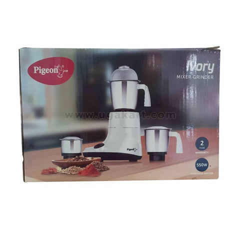 Pigeon Ivory Mixer Grinder- 550Watts Powerful Motor-3 Jars Stainless Steel