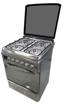 D6040GRF Full Gas Cooker - Silver