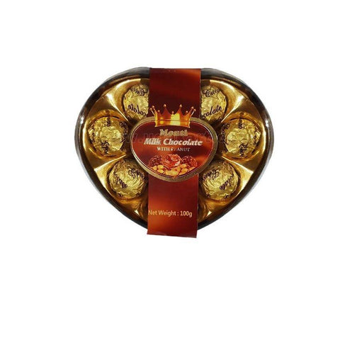 Monti Milk Chocolate With Peanut In Heart Shape 100gm
