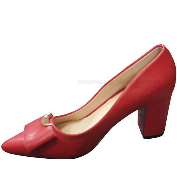 Red Plain High Heel Shoe For Women
