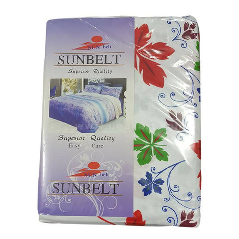 Sunbelt Flower Designed Bedsheet Set of 2 With 2 Pillow Cover (6x6)