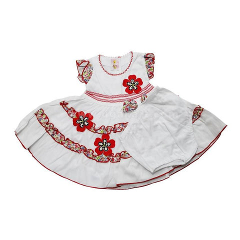 Baby Girl's Dress With White Short (0-6months)