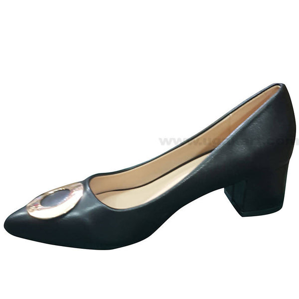 Black Plain High Heel Shoe For Women