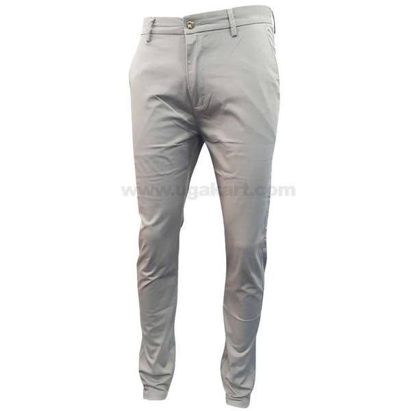 Gray Casual Trouser For Mens