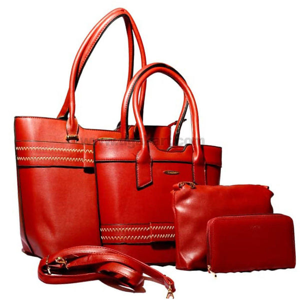 4PCS Red and Black Hand Bag