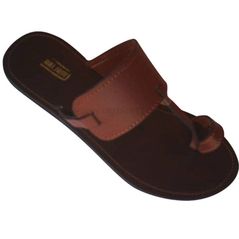 Maliba Brown and Brown Leather Sandal For Unisex