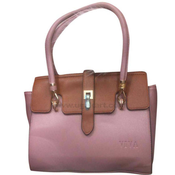 Viva Pink and Brown Hand Bag
