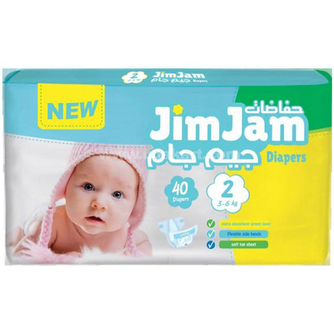 Jim Jam Diapers 3-6kg (40 Diapers)