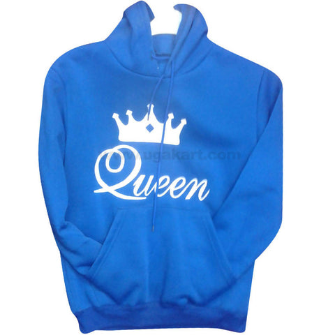 Blue Queen Branded Hoodie Jumper (FreeSize)