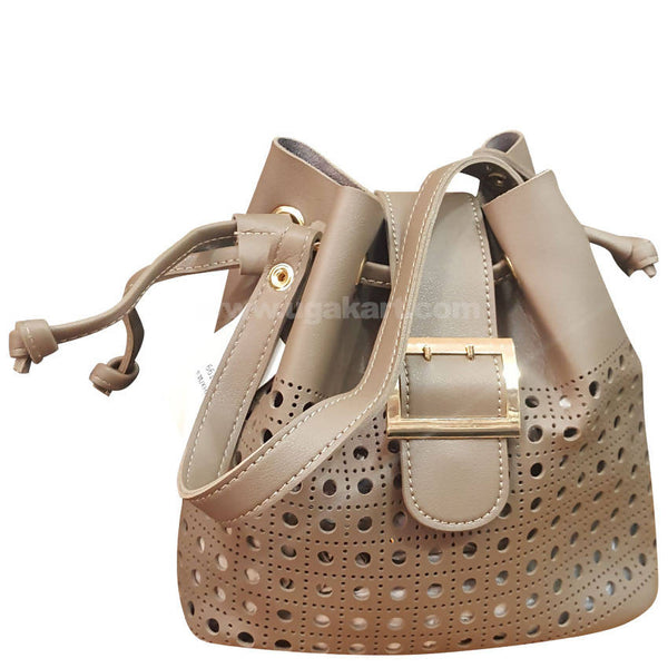 Gray beige Cream Ladies Hand Bag